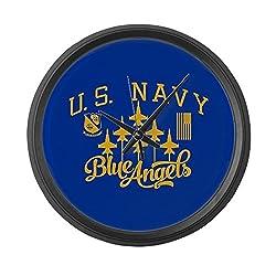 CafePress - U.S. Navy Blue Angels Squadron - Large 17 Round Wall Clock, Unique Decorative Clock