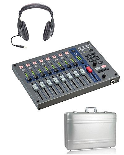 Zoom FRC-8 F-Control Mixing Surface + Vanguard Foam Padded Aluminum Case + Headphones by Willoughby's