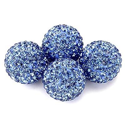 Xuxu521 (4pcs) Auto Car Wheel Tire Tyre Stem Air Cover Valve Caps Bling Crystal Diamond Rhinestone Fashion Ms Madam (Blue): Automotive
