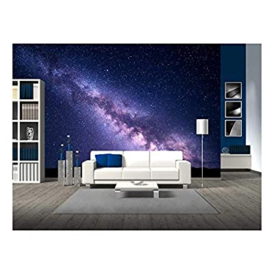 Landscape with Purple Milky Way Night Sky with Stars and Hills at Summer, That You Will Love, Beautiful Object of Art