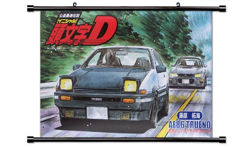 Initial D Anime Fabric Wall Scroll Poster (32 x 20) Inches.[WP]-Init-6 (L) (Scroll D Initial Wall)