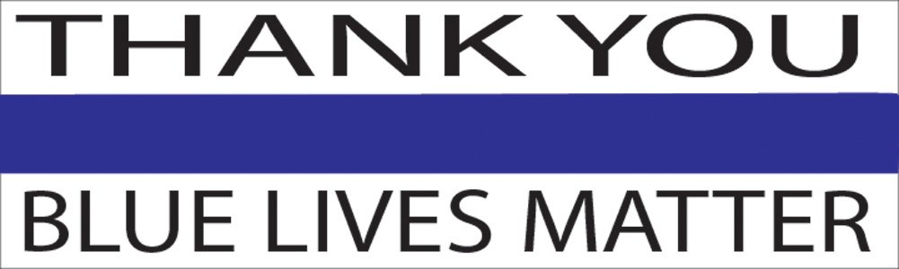 10in x 3in Large Blue Lives Matter Flag Auto Decal Bumper Sticker Support Law...