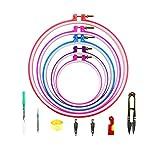 BcPowr - 18 aros de plástico para bordado de punto de cruz, 5 tamaños diferentes, círculos de bordado, manualidades para hacer tú mismo