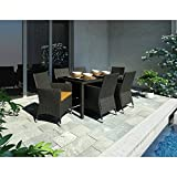 Cheap Sonax Z-506-TPP Park 7-Piece Terrace Black Weave Patio Dining Set (Discontinued by Manufacturer)