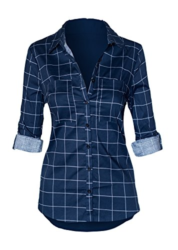 Womens Sleeve Button Collared Stretch