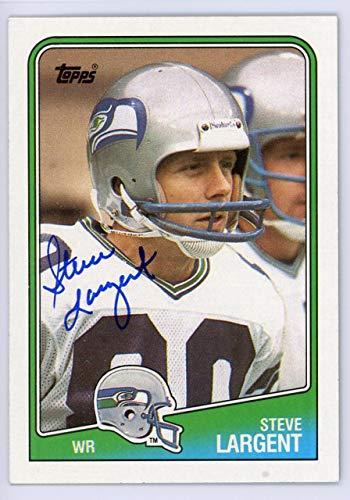 (Steve Largent Autographed 1988 Topps Card #135 Seattle Seahawks SKU #134669 - NFL Autographed Football Cards)