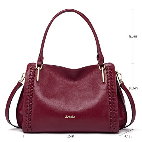 Lady's �� for Handbags and Tote Purses Bags Red Women Shoulder Satchel ZOOLER Leather qBPaxwnSPz