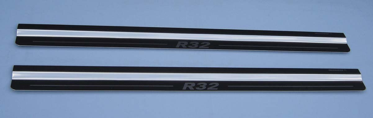 2x Tailored Chrome Door Sill Protectors With SXI Engraved