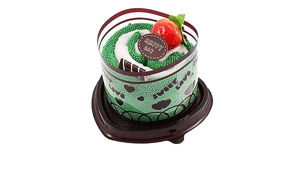 Amazon.com: eDealMax Diseño Fiesta de la boda decoración de frutas Torta del corazón la Mano del Regalo de la toalla Verde: Home & Kitchen