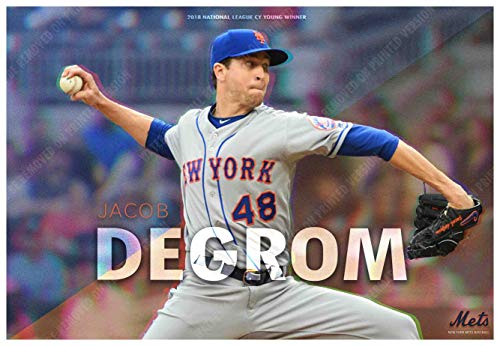 PosterWarehouse2017 Jacob deGrom WINS The 2018 CY Young Award Commemorative Poster