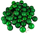 FLAMINGO_STORE Christmas Ball Ornament Xmas Green Shatterproof 4-Finish Christmas Ball Ornaments 2.5'' (60mm) 24ct Xmas Green Shatterproof 4-Finish Christmas Ball Ornaments 2.5'' (60mm)
