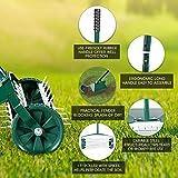 Rolling Lawn Aerator 18-inch Garden Yard Rotary