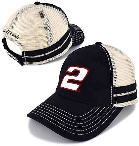Checkered Flag Brad Keselowski 2018 Vintage Mesh #2 Number NASCAR Hat