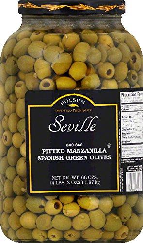 Dot Foods Olives, Pitted Manzanilla Spanish Green, 1Ga, Pack Of 4 by Dot Foods