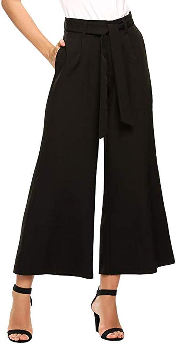 Femme Pantalon Large /à Jambes,Fluides Irr/égulier Long Jupe-Pant Palazzo Bringbring