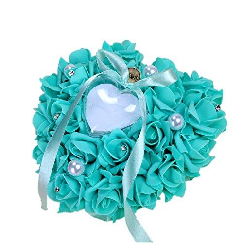 Vintage PE 1617cm Bridal Wedding Ceremony Pocket Ring Bearer Pillow Cushion,Tiffany - Tiffany Imitation