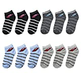 Falari 12-Pack Boy Toddler Kids Cotton Ankle Socks (Race Car 6-8Years, 503-9L)