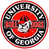 Tag City Georgia Bulldogs 12 Inch Embossed Metal