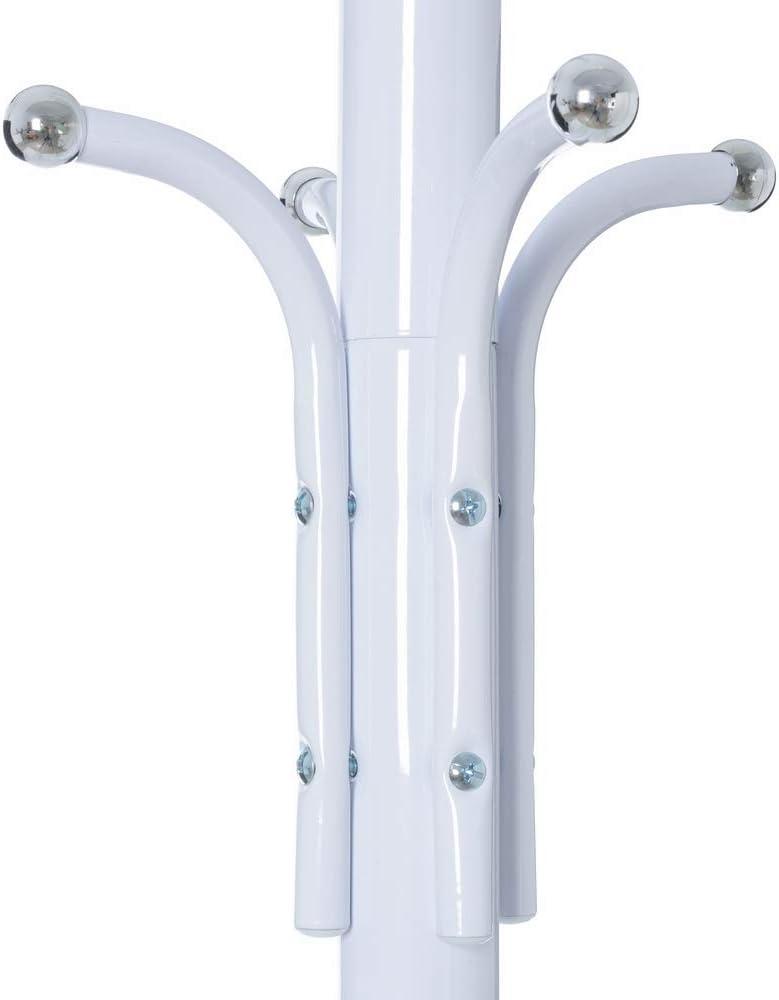 Perchero de 12 brazos moderno blanco de metal para la entrada de 178 cm Fantasy Lola Derek