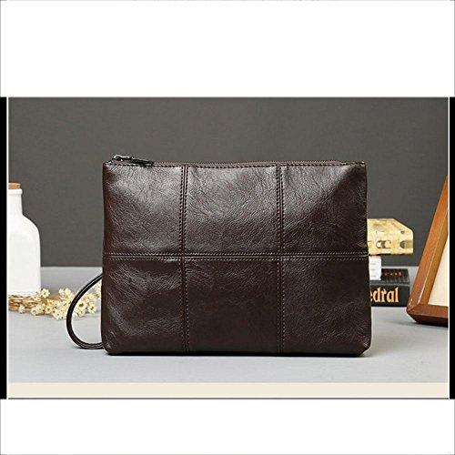 With Men Wristlet Business Pu Clutch Bag Leather Wrist Coffee Handbag For Wallet Nabao 8xpUHqww