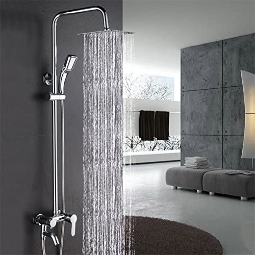 Luxurious shower Salle de bains de luxe moderne chrome tête ...