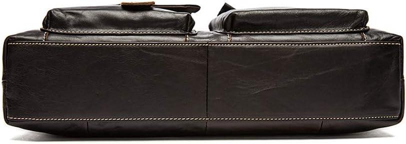 Fashion Handbag 39x9x30cm Briefcase GAIXIA Mens Briefcase Mens Leather Laptop Bag Multi-Pocket Business Work Bag