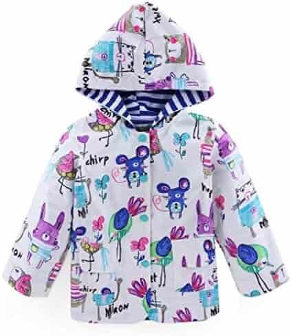 df9b7cf23 Ausom Fashion 2017 Spring Autumn Windproof Waterproof Jacket Cute Animals  Doodle Kids Raincoat