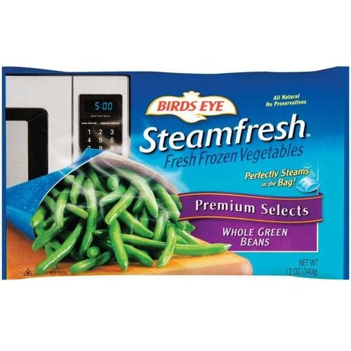 BIRDS EYE STEAMFRESH VEGETABLES WHOLE GREEN BEANS 10.8 OZ PACK OF 3 by BIRDS EYE at The Neighborhood Corner Store (Image #1)