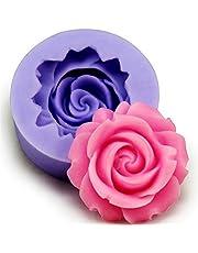 lumanuby 1 pieza Formas, material de silicona Moldes, Exquisite Rose Forma de Flor Diseño