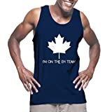 I'm On The Eh Team - Canadian Canada Men's Tank Top (Navy, Large)