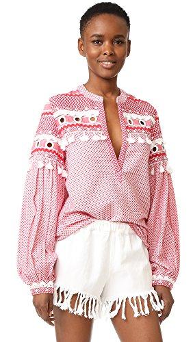 DODO BAR OR Women's Nathaniel Shirt, Red/White, Small