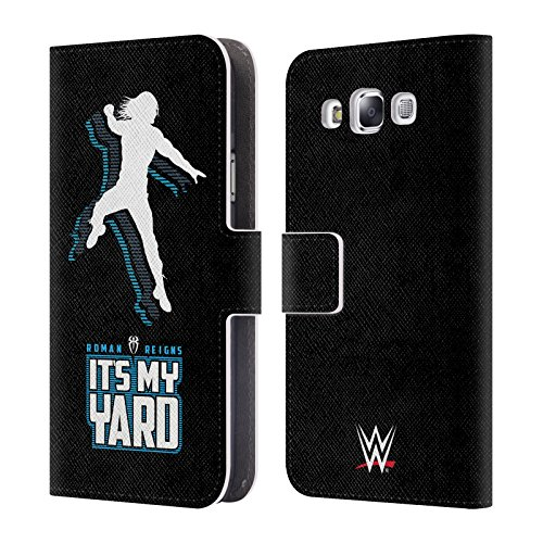 Official WWE It's My Yard 2017 Roman Reigns Leather Book Wallet Case Cover For Samsung Galaxy E5