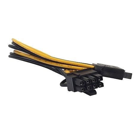 Cable de Fuente de alimentación de Video SATA PCI-E para el ...