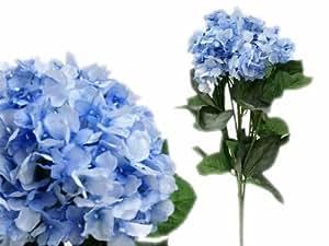 28 Silk Hydrangea Wedding Flowers - Light Blue