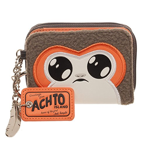 Star Wars Episode 8 Porg Jrs. Mini Bi-Fold Wallet (Sock Coin Purse)
