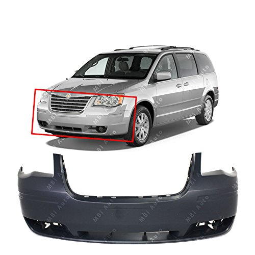 Town Car Front Bumper Cover - MBI AUTO Primered, Front Bumper Cover Fascia for 2008 2009 2010 Chrysler Town & Country W/out Headlight Washers 08-10, CH1000927