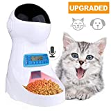 Currens Pets Ceramic Drinking Fountain Pet Feeder Automatic Cat Feeder Automatic Water Fountain for Dogs Cats (3.5L)