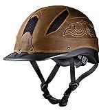 Troxel Cheyenne Helmet, Brown, Large