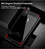 iPhone 10 case, Monline Iphone x case, Shockproof hybrid 2 in 1 transparent crystal clear phone back cover case for apple Iphone X hard shell (Black)
