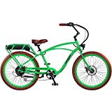 """Pedego Interceptor 26"""" Classic Lime Green with Brown Balloon Package 48V 15Ah"""