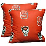 College Covers North Carolina State Wolfpack Decorative Pillow (Set of 2), 16 by 16 by College Covers