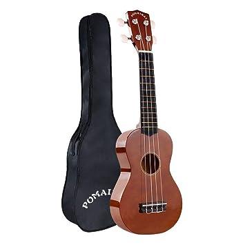 POMAIKAI Soprano Ukelele para Principiantes, Ukelele Hawaiano para Niños, Guitarra de 21 Pulgadas con