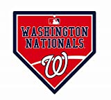 "Washington Nationals MLB 9.25"" x 9.25"" Home Plate Sign"