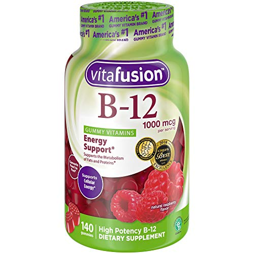 - Vitafusion Vitamin B12 1000 mcg Gummy Supplement, 140ct