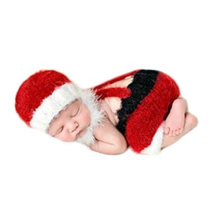 Amazon.com: vedory bebé recién nacido Gorro de ganchillo ...