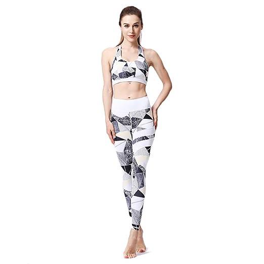 Deportes Sostén Yoga Pantalones Mujer Conjuntos para Running ...