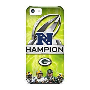 Anti-scratch And Shatterproof Green Bay Packers Phone Case For Iphone 5c/ High Quality Tpu Case