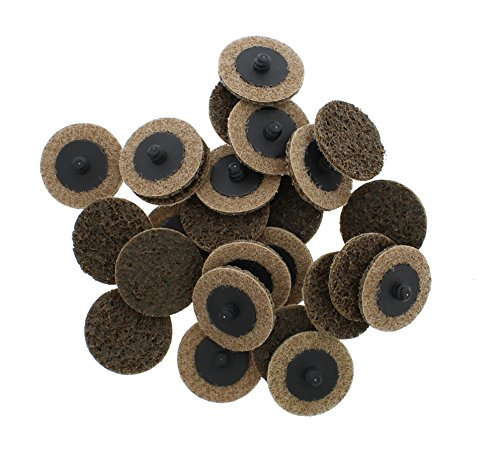 "BROWN 50PC 2/"" Coarse Roloc Scotch Brite Roll Lock Surface Sanding Disc"