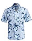APTRO Hawaiian Shirt for Men Short Sleeve Tropic Pattern Shirts HW019 XXXL