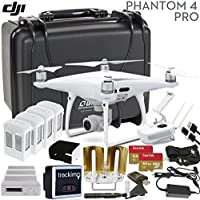 DJI Phantom 4 PRO V2.0 Executive Bundle: Includes Antenna Range Extenders, Trackimo GPS Tracker, 2x SanDisk 64GB High Speed Memory Cards, Go Professional Wheeled Case & More...